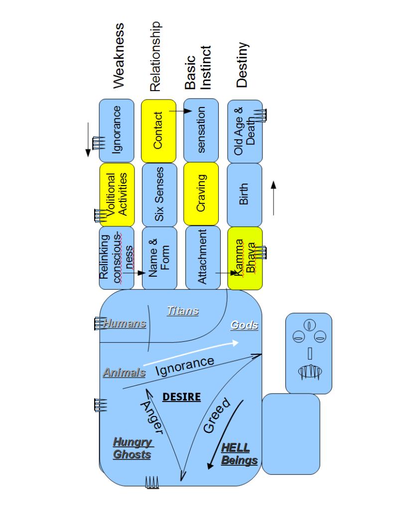 Dependent Origination chart in Buddhism